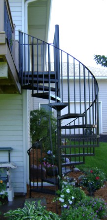 Spiral staircase and modular staircase kit products - Arke, Inc.